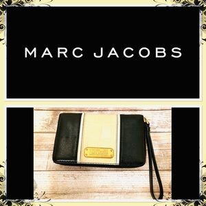 Marc Jacobs Color-Block Leather Clutch.